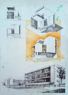 Architecture drawing and sketches vladbucur.ro Architectural drawing and sketches vladbucur. Architecture Sketchbook, Architecture Portfolio, Concept Architecture, Architecture Design, Architecture Diagrams, Classical Architecture, House Design Drawing, House Drawing, Conceptual Drawing