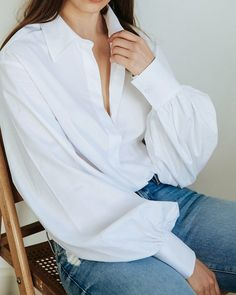 Relaxed in our white Adagio Shirt | Now available online and @theundonestore