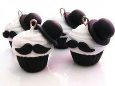 moustache cupcakes