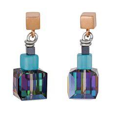 geo cube earrings, coeur de lion jewelry, multicolor $105