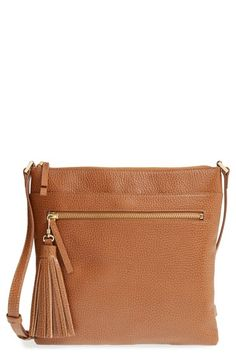 Halogen®+Tasseled+Leather+Crossbody+Bag+available+at+#Nordstrom