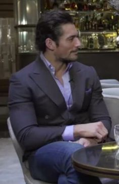 Screen capture from Just Good Friends With David Gandy.   Natalia Barbieri of Bionda Castana, shoe designer extraordinaire, has been friends with supermodel David Gandy for almost a decade and Vogue.co.uk caught up with the photogenic twosome in the Connaught Hotel's Champagne Bar to find out.
