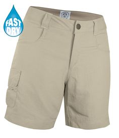 Ladies Amy Beige Fast dry Shorts. Crew Uniform and Yacht Uniforms.