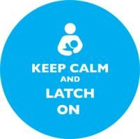 Keep Calm and Latch On Blue