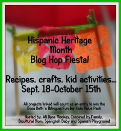 Hispanic Heritage Month Blog Hop Fiesta  Check out this amazing collection of links! Add to the collection to win a great language learning prize!