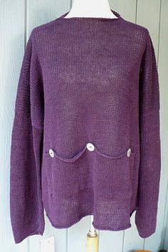 Details about GUDRUN SJODEN LinenEco Cotton Knitted JacketCardigan (B2)