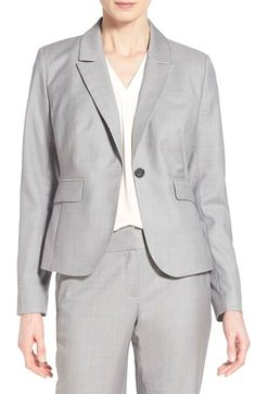Classiques Entier® Superfine Wool One-Button Suit Jacket (Regular & Petite) available at #Nordstrom