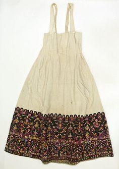 Shirt Date: 19th century Culture: Greek Medium: cotton, silk