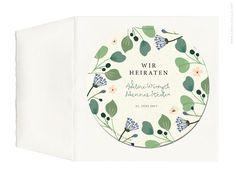 Hochzeitseinladungskarte auf einem Bierdeckel gedruckt von Carte Royale.