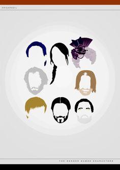 Caesar, Katniss,Effie,President Snow, Haymitch,Peeta,Head Gamemaker, and Cinna! They forgot Gale!!!!! :O