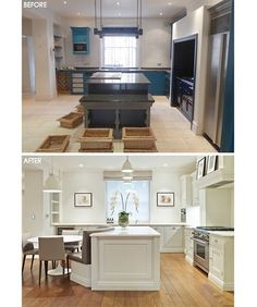 Kitchen Before and After in our Little Venice Project ✨  #beforeandafter #tomhowley #interiordesign #propertyrefurbishment #interiorarchitecture #projectmanagement #luxuryproperty #design #architecture #londonliving #kitchendesign #interior #shakerstyle #contemporary #archilovers #architecturalphotography #interiorinspiration #dreamkitchen #homedesign #luxurykitchen #luxurylifestyle #homedesign #landmasslondon