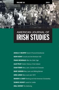 Read this latest edition of the American Journal of Irish Studies. The cover features a well dressed group of travelers flying to Ireland on one of the first chartered flights between New York and Dublin.