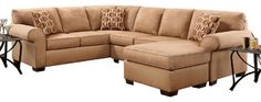 Chelsea Home Allegany 2-Piece Sectional in Patriot Mocha traditional-sectional-sofas