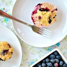 Homemade Blueberry Muffins // www.SimplyScratch...