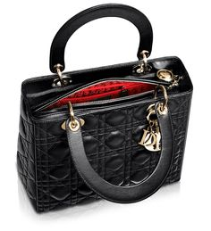 Lady Dior Black Leather Small Bag (inside)