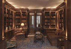 Luxury Bookcase Designs Luxury Tim Gosling Fitted Library In Sycamore Luxury Bespoke Home Library Rooms, Home Library Design, Dream Library, Home Libraries, House Design, Bespoke Furniture, Furniture Design, Interior Exterior, Interior Design