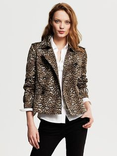 Banana Republic | Leopard Print Short Trench