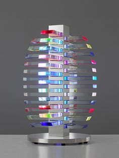 Sidney Hutter, Glass Artist - Architectural Light Vessel Pinned from http://www.sidneyhutter.com