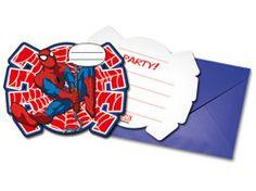 Zaproszenie urodzinowe Ultimate Spiderman Power - 1 szt.