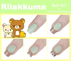 Rilakkuma Nail Art Tutorial nail-paint