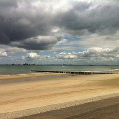 Breskens beach. Zeeland, Netherlands