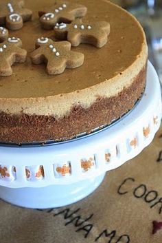 Gingerbread cheesecake.