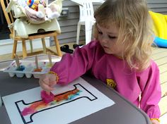 Mom's Tot School: Letter I is for Ice Painting!