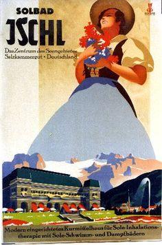 Bad Ischl travel poster #feelaustria
