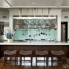 The Mick De Giulio–designed kitchen of a Long Island home.