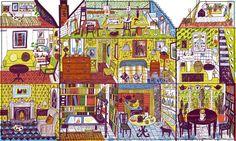 Brick House by Alice Pattullo Illustrations, Illustration Art, Weekend Artist, Alphabet Mugs, White Gouache, Home Tattoo, Art Party, Cartoon Styles, Brick