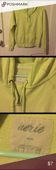 AE American Eagle Lime Green Hoodie Medium Great condition Lime Green hoodie from Aerie American Eagle size medium. There's a small hole in the hood close to the neck but it's really hard to see. No other defects. aerie Sweaters