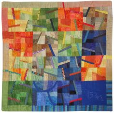 Quilt by Heidi Zinner, Germany.  Hand quilted. Quilt and Textilkunst Gallery, Munich.  Quilt Art News.