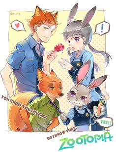 the-amazing-kukutjulu:  Zootopia!! by Ekita玄