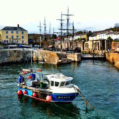 Charlestown harbour in Cornwall