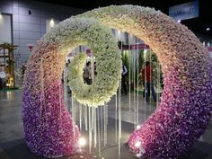 Floral design in Thailand Arte Floral, Wedding Stage Decorations, Flower Decorations, Photos Booth, Ikebana, Light Art, Flower Wall, Flower Designs, Paper Flowers