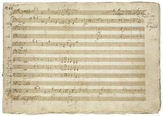 "Wolfgang Amadeus Mozart (1756–1791) Symphony in D Major, K. 385 Autograph manuscript of the ""Haffner"" Symphony, 1782 23 x 31 cm The Mary..."