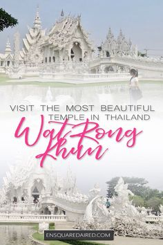 Read the ultimate guide of the Wat Rong Khun white temple in Chiang Rai. Learn everything you need to know about the most beautiful temple in Thailand Visit Thailand, Thailand Travel, Asia Travel, Travel Tips, Budget Travel, Backpacking Thailand, Travel Plan, Romantic Honeymoon, Romantic Travel