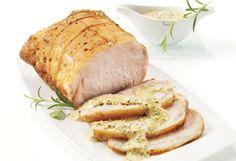 Rôti de longe de porc aux deux moutardes Mets, Pork Recipes, Turkey, Sweet, Saq, Ainsi, Main Courses, Foodies, Palette
