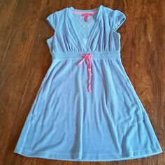 Betsey Johnson Blue Terry Cover Up Size Medium Good used condition Betsey Johnson Swim Coverups