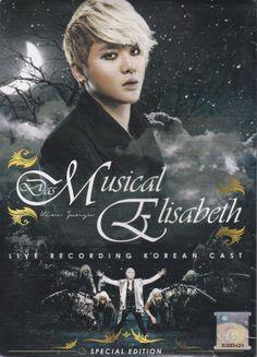 DAS MUSICAL ELISABETH Live Recording Korean Cast Special EDT Kim JunSu 2CD+DVD