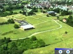 Vue aérienne de l'oppidum d'Argentomagus.  http://www.argentomagus.fr