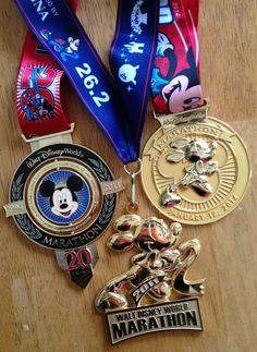 My Walt Disney World Marathon Medal Collection. runDisney www.bamagirlruns.blogspot.com