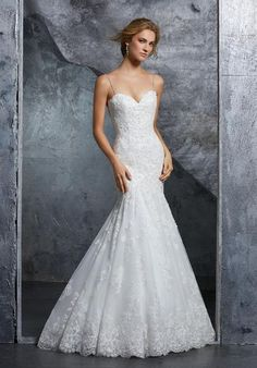 9803b74a58 Morilee 8210 Kenzie Timeless Beaded Fit and Flare Wedding Dress. Off White
