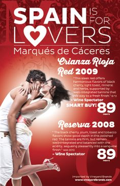 #Marqués de Cáceres - Spain is for Lovers - Happy Valentine's Day! #wine #love