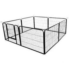 Archie & Oscar™ Abigail Steel Yard Kennel & Reviews | Wayfair Dog Playpen, Dog Kennels, Corrugated Carton, Dog Pen, Pet Dogs, Pets, Pet Gate, Large Dogs, Indoor Outdoor
