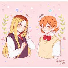 Haikyuu genderswapped Kenma and Hinata
