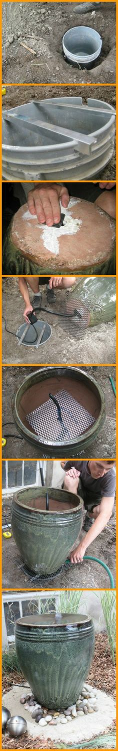 Adding a water feature to your garden or outdoor living space can be backbreaking work. This pot plant water feature will give a great effect without a lot of physical labour. Learn how it's made! http://theownerbuildernetwork.co/wtbo