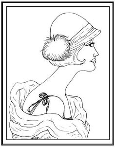 20's, adult coloring page sample