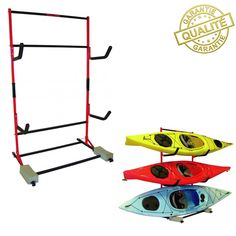 SUPPORT DE STOCKAGE MALONE FS POUR 3 KAYAKS.