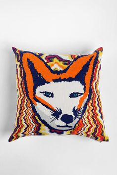 This looks like Willow in a Fox costume!  Mod Fox Pillow  #UrbanOutfitters